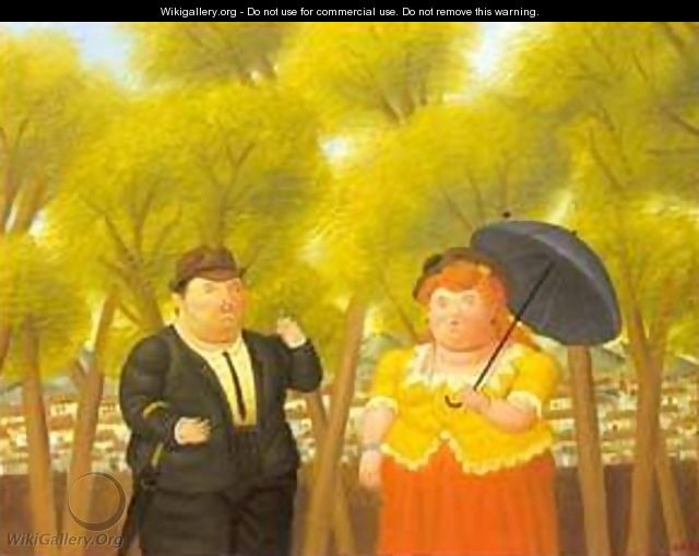 A man and a woman 1989 - Fernando Botero