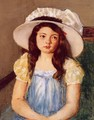 Francoise Wearing A Big White Hat - Mary Cassatt