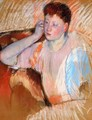 Clarissa Turned Left With Her Hand To Her Ear - Mary Cassatt
