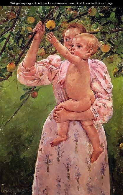 Baby Reaching For An Apple Aka Child Picking Fruit - Mary Cassatt