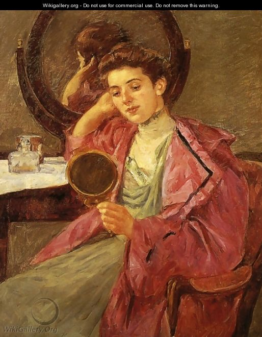 Antoinette At Her Dressing Table - Mary Cassatt