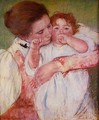 Little Ann Sucking Her Finger Embraced By Her Mother - Mary Cassatt