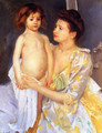 Jules Being Dried By His Mother - Mary Cassatt