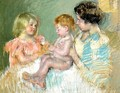 Sara And Her Mother With The Baby - Mary Cassatt
