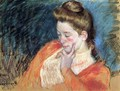 Portrait Of A Young Woman - Mary Cassatt