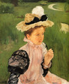 Portrait Of A Young Girl - Mary Cassatt