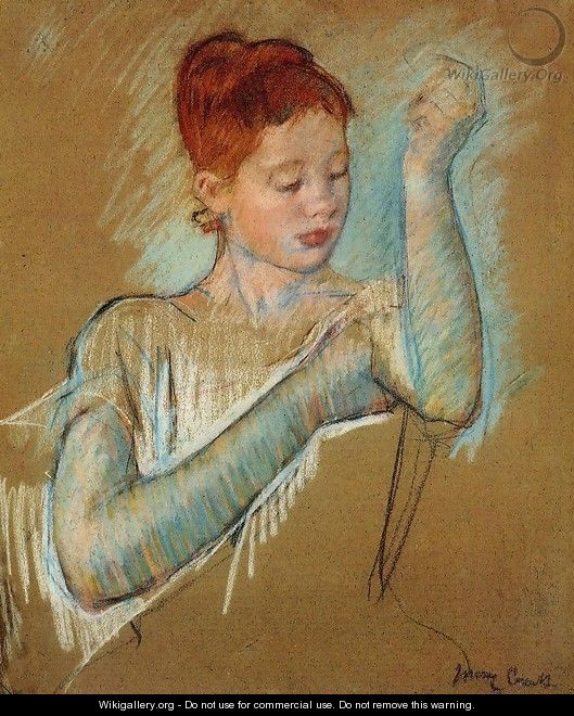 The Long Gloves - Mary Cassatt