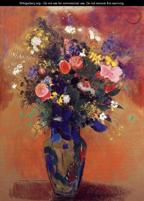 Bouquet In A Persian Vase - Odilon Redon