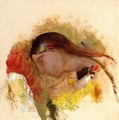 Head Of A Sleeping Woman - Odilon Redon