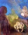 Girl With Chrysanthemums - Odilon Redon