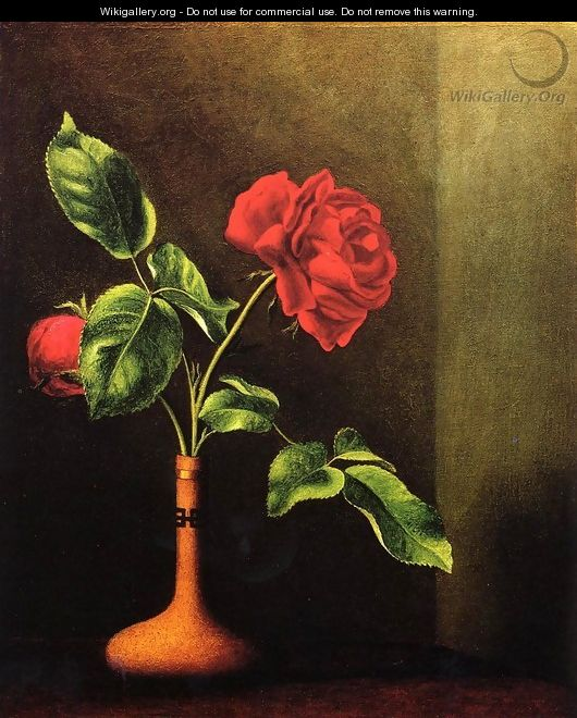 Still LIfe With Rose - Martin Johnson Heade