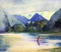 Entrance To The Vai Te Piha River Cooks Anchorage - John La Farge