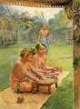 Young Girls Preparing Kava - John La Farge