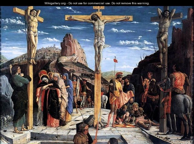 Crucifixion (Crocifissione) - Andrea Mantegna