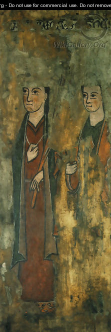 St. Catherine and St. Agnes - Unknown Painter