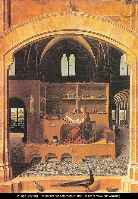 St. Jerome in his Study (San Gerolamo nello studio) - Antonello da Messina Messina