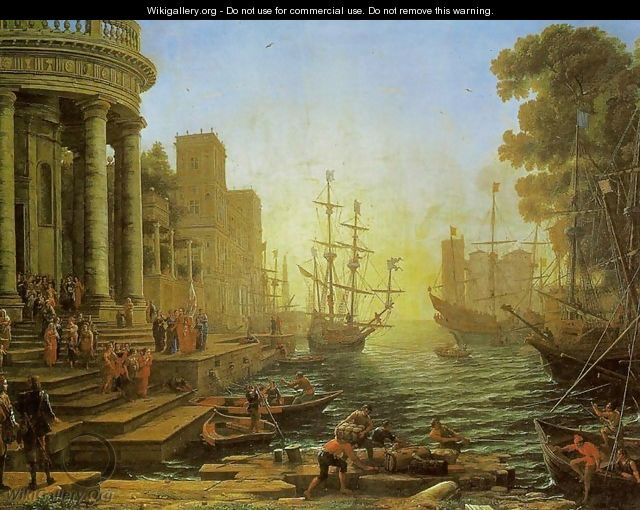 Embarkation of St. Ursula - Claude Lorrain (Gellee)