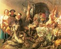 Still Life with a Fish Salesman - Jacob Jordaens