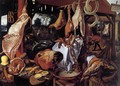 Butcher's Stall with the Flight into Egypt - Pieter Aertsen