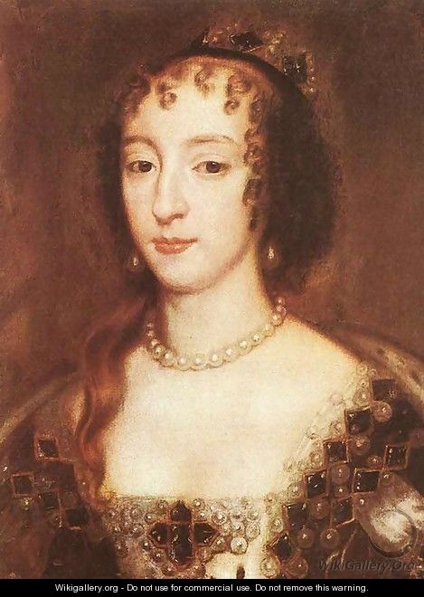 Henrietta Maria of France, Queen of England 1660 - Sir Peter Lely