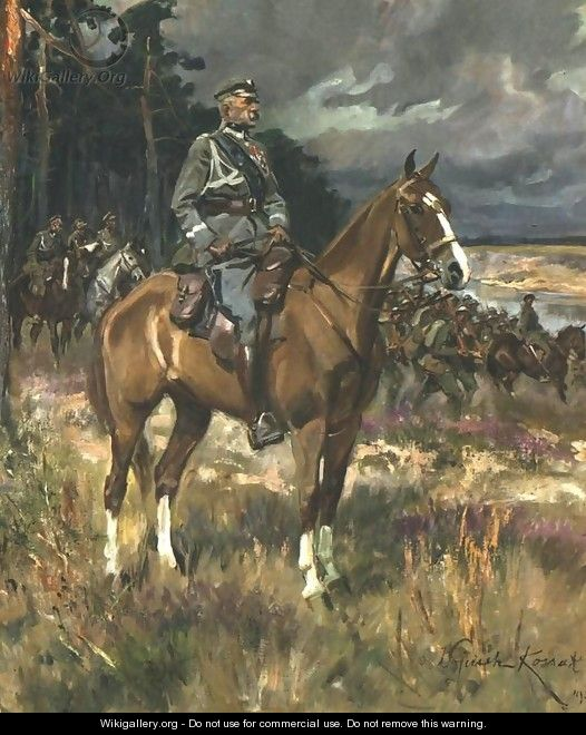 Pilsudski on Horseback - Wojciech Kossak