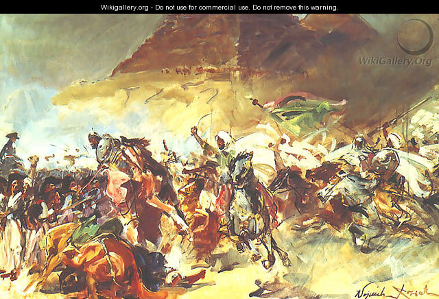 Battle of the Pyramids - Wojciech Kossak