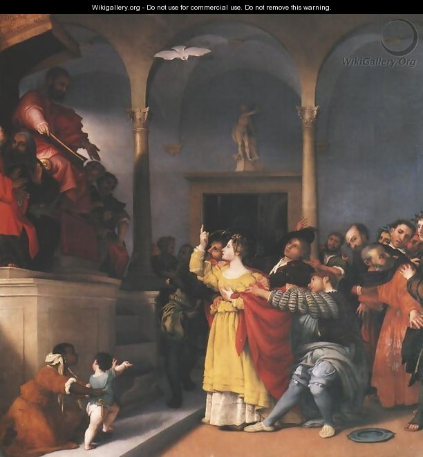 St. Lucy Before the Judge - Lorenzo Lotto
