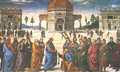Christ Giving the Keys to St. Peter (Consegna delle chiavi) - Pietro Vannucci Perugino