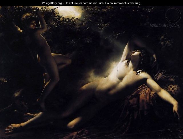 Endymion. Moonlight Effect - Anne-Louis Girodet de Roucy-Triosson