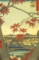 Maple Leaves at the Tekona Shrine, Mamma - Utagawa or Ando Hiroshige