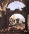 Capriccio of the Capitol - Bernardo Bellotto (Canaletto)