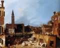 Stonemason's Yard at San Vidal - (Giovanni Antonio Canal) Canaletto