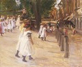 On the Way to School in Edam 1904 - Max Liebermann
