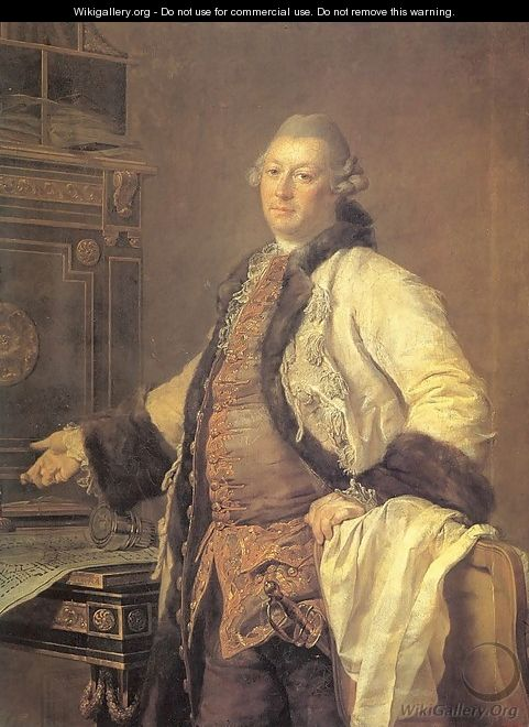 The Architect Alexander Kokorinov, Director and First Rector of the Academy of Arts 1769 - Dmitry Levitsky
