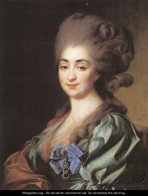 Portrait of Princess Praskovia Repnina 1781 - Dmitry Levitsky