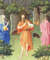Belles Heures de Duc du Berry -Folio 211- St. John the Baptist in the Wilderness 1408-09 - Jean Limbourg