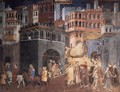 Effects of Good Government on the City Life (detail-3) 1338-40 - Ambrogio Lorenzetti