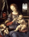 Madonna with the Christ Child and St John the Baptist - Lorenzo di Credi