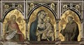 Madonna and Child with St Francis and St John the Baptist c. 1320 - Pietro Lorenzetti