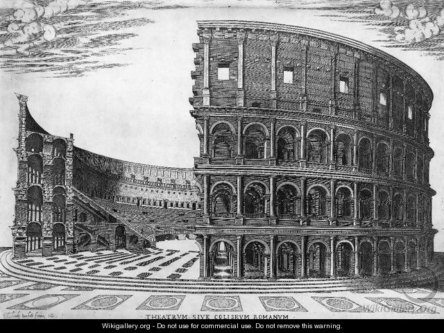 The Colosseum in Rome 1564 - Antonio Lafreri