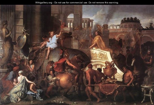 Entry of Alexander into Babylon c. 1664 - Charles Le Brun