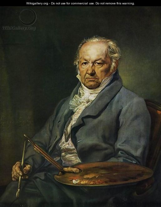 The Painter Francisco de Goya 1826 - Vincente Lapez Y Portana