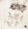 Study of battles on horseback and on foot (2) 1503-04 - Leonardo Da Vinci