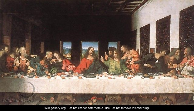 Last Supper (copy) 16th century - Leonardo Da Vinci