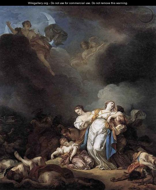 Apollo and Diana Attacking Niobe and her Children 1772 - Anicet-Charles-Gabriel Lemonnier