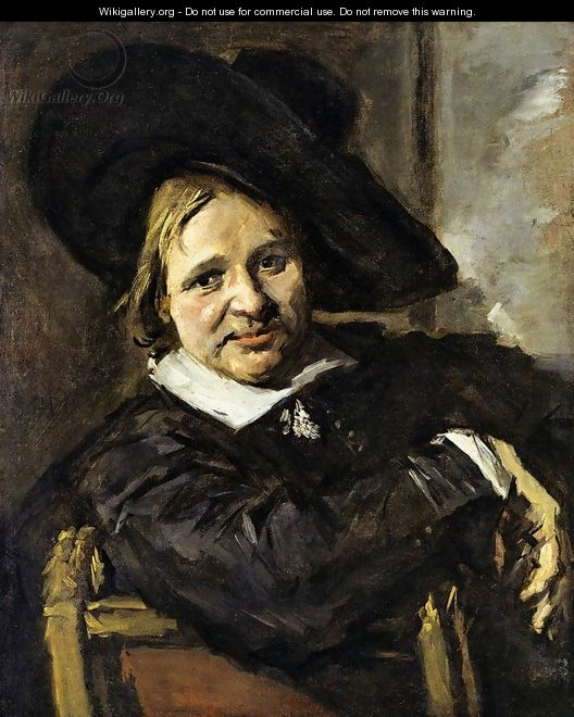 Portrait of a Man in a Slouch Hat 1660-66 - Frans Hals