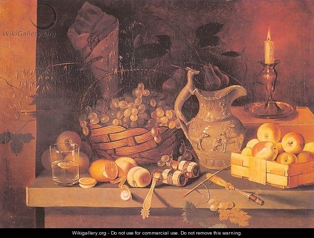 Still Life with a Candle - Ivan Khrutsky