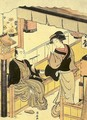 Tea-Stall Girl with Guest 1778 - Torii Kiyonaga