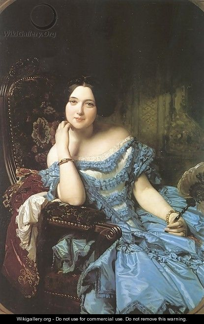 Amalia de Llano y Dotres- The Countess of Vilches 1853 - Federico de Madrazo y Kuntz