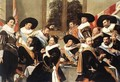 Banquet of the Officers of the St Hadrian Civic Guard Company (2) c. 1627 - Frans Hals